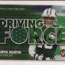 CURTIS MARTIN JETS 2002 TOPPS PRISTINE DRIVING FORCE JERSEY