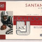SANTANA MOSS JETS 2001 UD GAME GEAR RC JERSEY