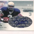 ARNAZ BATTLE NOTRE DAME 2003 SAGE AUTHENTIC AUTO