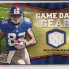 MARIO MANNINGHAM GIANTS 2009 UD GAME DAY GEAR JERSEY
