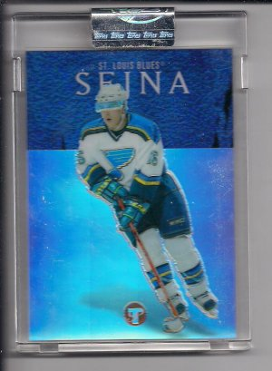 PETER SEJNA BLUES 2003-04 TOPPS PRISTINE UNCIRCULATED REFRACTOR RC