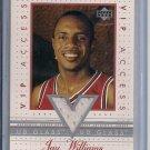 JAY WILLIAMS BULLS 2002-03 UD GLASS VIP ACCESS JERSEY