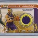DEREK FISHER LAKERS 2001-02 TOPPS TCC NBA FINALS JERSEY CARD