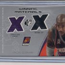 STEPHON MARBURY SUNS 2002 SPX DUAL SHIRT/WARM UP CARD