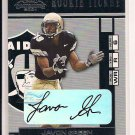 JAVON GREEN RAIDERS 2001 PLAYOFF CONTENDERS ROOKIE AUTO
