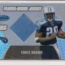 CHRIS BROWN TITANS 2003 BOWMAN'S BEST ROOKIE JERSEY