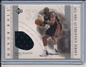 KARL MALONE JAZZ 2002 HONOR ROLL AUTHENTICS JERSEY
