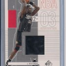 DIKEMBE MUTOMBO 76ERS 2002-03 SP GAME USED JERSEY