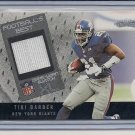 TIKI BARBER GIANTS 2002 FLEER XL JERSEY SWATCH