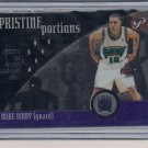 MIKE BIBBY KINGS 2001-02 TOPPS PRISTINE PORTIONS SHORTS CARD