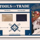 TROY GLAUS ANGELS 2004 ABSOLUTE DUAL JERSEY BAT CARD
