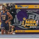 RICK FOX LAKERS 2000 TOPPS STARS NBA FINALS JERSEY