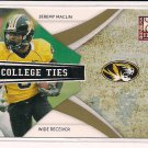 JEREMY MACLIN 2009 DONRUSS ELITE COLLEGE TIES #'D 128/399!