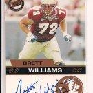 BRETT WILLIAMS SEMINOLES 2003 PRESSPASS AUTO