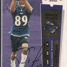 TRAVIS TAYLOR RAVENS 2000 PLAYOFF CONTENDERS ROOKIE AUTO