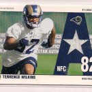 TERRENCE WILLKINS RAMS 2002 UD ALL STAR AUTHENTICS JERSEY