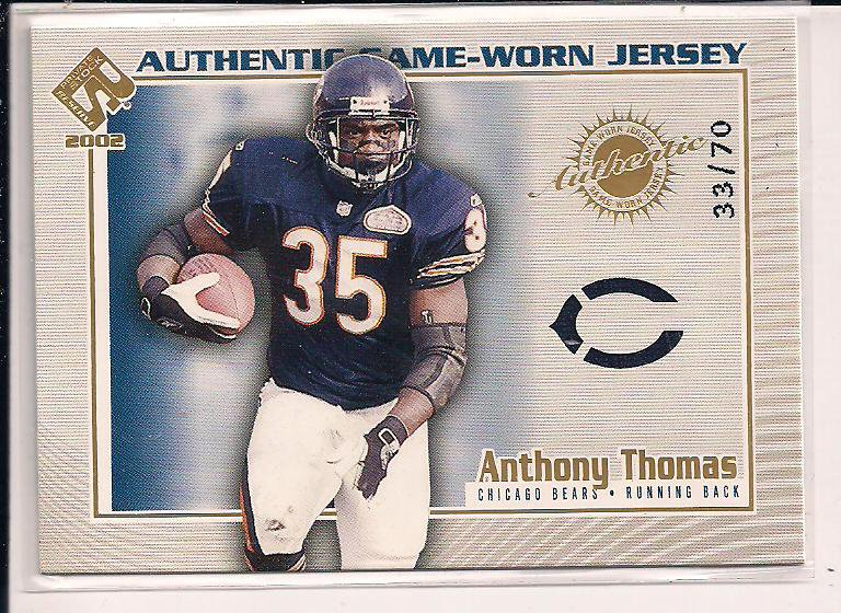ANTHONY THOMAS BEARS 2002 PRIVATE STOCK JERSEY #'D 33/70!