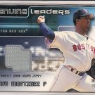 PEDRO MARTINEZ RED SOX 2002 FLEER GENUINE LEADERS JERSEY
