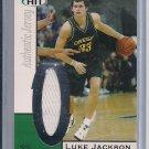 LUKE JACKSON OREGON 2004 SAGE HIT JERSEY CARD