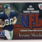JEREMY SHOCKEY GIANTS 2002 TOPPS PRISTINE ROOKIE JERSEY