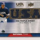 ANDY WILKINS 2009 UPPER DECK USA TRIPLE JERSEY