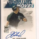 JOE BORCHARD WHITE SOX 2003 TOPPS TRADED SIGNATURE MOVE AUTO