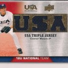 CONNOR MASON 2009 UPPER DECK USA BASEBALL TRIPLE JERSEY