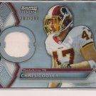 CHRIS COOLEY REDSKINS 2011 BOWMAN STERLING RELIC JERSEY