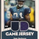 NATE BURLESON 2007 UPER DECK GAME JERSEY
