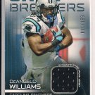 DEANGELO WILLIAMS PANTHERS 2009 TOPPS UNIQUE JERSEY RELIC