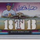 MITCH MORELAND RANGERS 2011 TRIPLE THREADS JERSEY AUTO #'D 37/99!