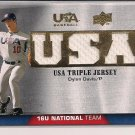 DYLAN DAVIS 2009 UPPER DECK USA BASEBALL TRIPLE JERSEY