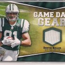 DUSTIN KELLER JETS 2009 UD GAME DAY GEAR JERSEY