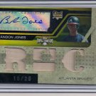 BRANDON JONES BRAVES 2008 TRIPLE THREAD RC AUTO/BAT #' 18/25