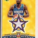 VOSHON LENARD NUGGETS 2004 UD ALL-STAR WEEKEND JERSEY