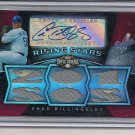 CHAD BILLINGSLEY DODGERS 2009 TRIPLE THREADS JSY/AUTO #'7/99