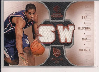 SEAN WILLIAMS NETS 2007-08 SP ROOKIE THREADS DUAL JERSEY