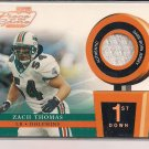 ZACH THOMAS DOLPHINS 2002 PLAYOFFS PIECE OF THE GAME JSY