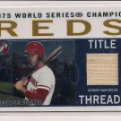 GEORGE FOSTER REDS 2005 TOPPS PRISTINE TITLE THREADS BAT