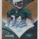 DWIGHT LOWERY JETS 2008 UD ICONS NFL ROOKIE AUTO #'D 125/135