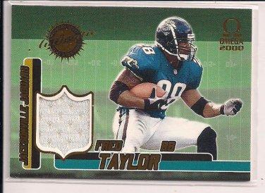 FRED TAYLOR JAGUARS 2000 OMEGA JERSEY CARD