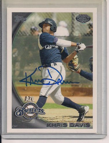 KHRIS DAVIS BREWERS 2010 TOPPS PRO DEBUT AUTO