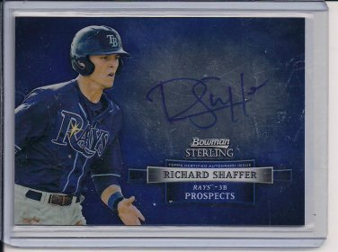 RICHARD SHAFFER RAYS 2012 BOWMAN STERLING PROSPECTS AUTO