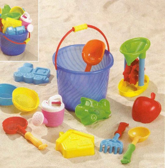 Beach Bucket Sand Toy Set