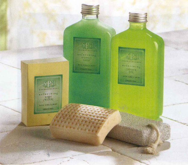 Minty Lime Spa Basket Set.