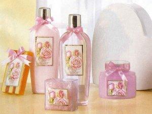 Purple Rose Scented Bath Set