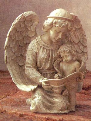 Angel and Child Statue