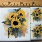 ~~Colorful~~ SUNFLOWER FOCALS ~~3 HM  Mosaic Tiles