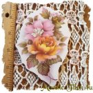Mosaic Tiles *~PASTEL ROSES*~1 LG. HM Kiln Fired