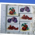 Focals ~CHILI PEPPERS & VEGGIES*~6  Mosaic Tiles